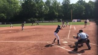 Young woman powers through using softball after suffering stroke