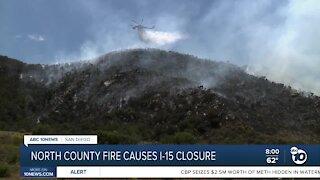 Deer Fire causes I-15 closure