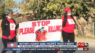 Mothers Against Gang Violence holds march in Central Bakersfield