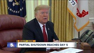 Partial government shutdown reaches Day 5