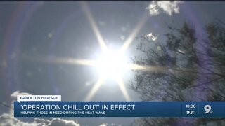 Operation Chill Out in effect amid excessive heat warning