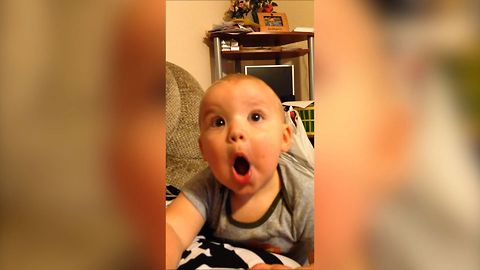 Cute Baby Masters The Art Of Silly Faces