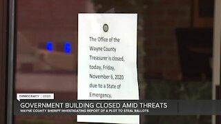 Wayne County Treasurer's Office closes abruptly Friday due to threats