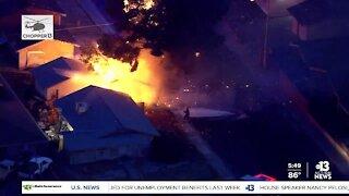 House fire near Brand Street/Twining Avenue