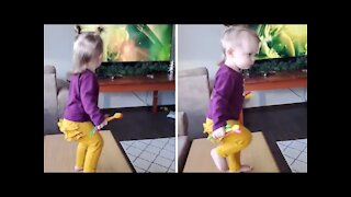 This toddler is most definitely a future metalhead #Shorts