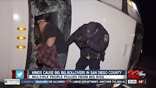 Check This Out: Winds cause big rig to rollover in San Diego County