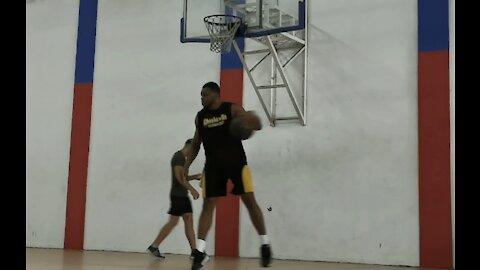 Obinna Ezeike Pound for pound basic basketball fitness