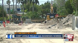 St. Pete Beach business owners worry road construction will hurt business