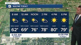 Metro Detroit Forecast: Getting warmer; chance of rain tomorrow
