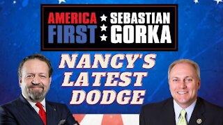 Nancy's latest dodge. Rep. Steve Scalise with Sebastian Gorka on AMERICA First