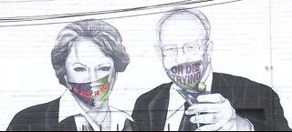 Face masks added to mural of Las Vegas mayor