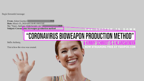 "244: ""Coronavirus Bioweapon Production Method"" & Kimmy Schmidt is a Klanswomxn"