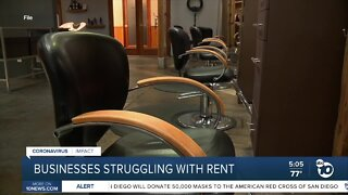 Businesses struggling with rent