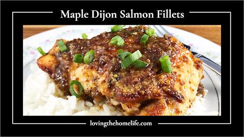 Maple Dijon Salmon Fillets