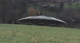 Real UFO with Aliens