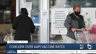 Concern over low vaccine rates in AAPI community