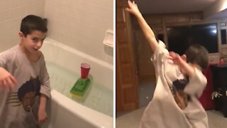 8-year-old kid shows off his epic trick shot compilation