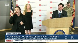 Governor Ducey requests changes to food assistance program during COVID-19 crisis
