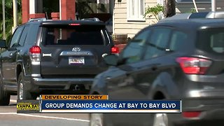 Pedestrian safety group demands safety changes to Bay to Bay Blvd.
