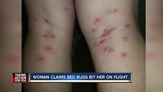 Woman claims bed bug bit her on flight