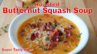 Oven Roasted Butternut Squash Soup - Easy Recipe!