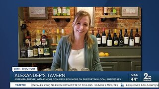 """Alexander's Tavern says """"We're Open Baltimore!"""""""