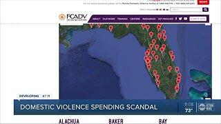 Domestic violence spending scandal
