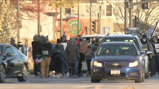 Crowds gather in Wauwatosa to protest Mensah decision