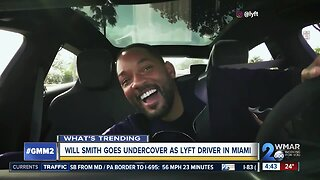 Will Smith goes undercoveras Lyft driver
