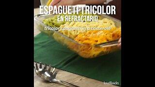 Tricolor Spaghetti in Refractory