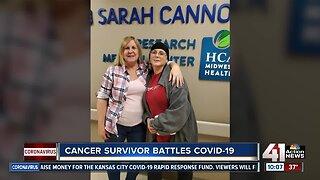 Cancer survivor battles COVID-19