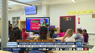 Students return to new Dundalk elementary school