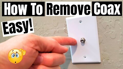 COAX OUTLET REMOVAL - HOW TO