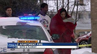 Milwaukee apartment fire leaves multiple families homeless