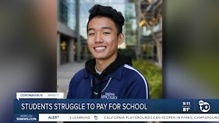 College student finds ways to support family through pandemic
