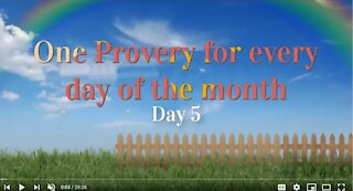 Proverbs Chapter 05