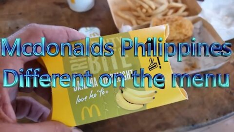 The MOST INCREDIBLE McDonald's in the Philippines what is different