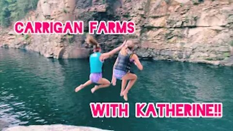 Carrigan Farms with Katherine!!! Vlog!! (Jumps, rope swings, and much more!!) | Gabby's Gallery