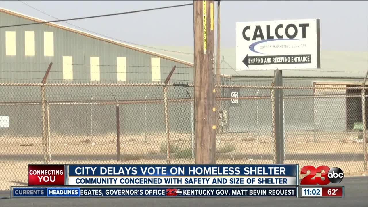 City delays vote on homeless shelter