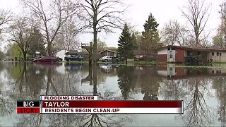 Taylor residents cleaning up after flood