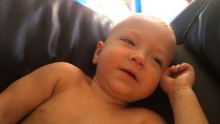 Baby Feeds Dad And Laughs Hysterically