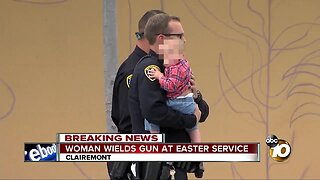 Woman wields gun at Easter service