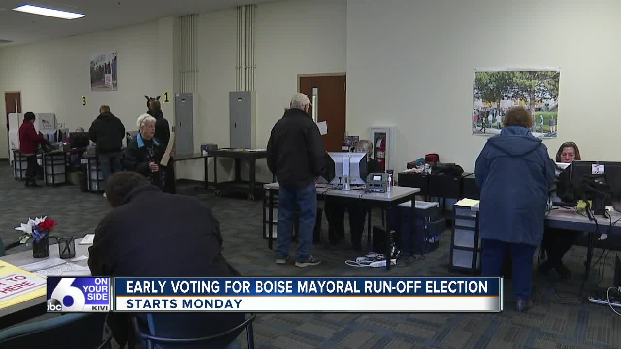 Early voting for Boise mayoral run-off starts Monday