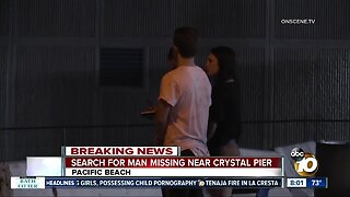 Search for man missing near Pacific Beach pier