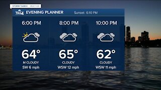 Rain showers and high winds expected tonight