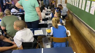 SOUTH AFRICA - Cape Town - First day of school for Grade 1, Goodwood Park Primary school(Video) (hQ2)