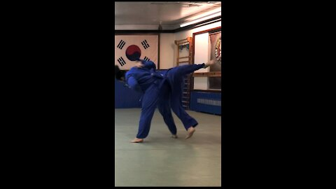 Judo movement practice and fighting