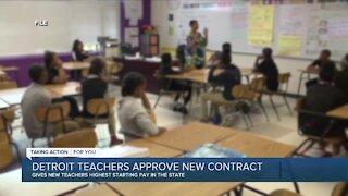 Detroit teachers approve new contract