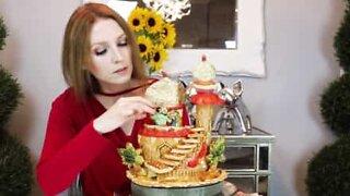 Artist creates impressive sculptures using short pastry