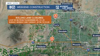 Weekend construction advisory for March 26-29